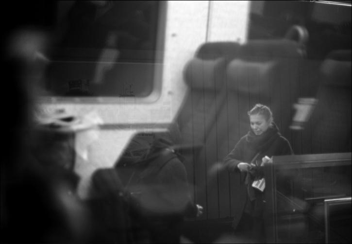 från tåget