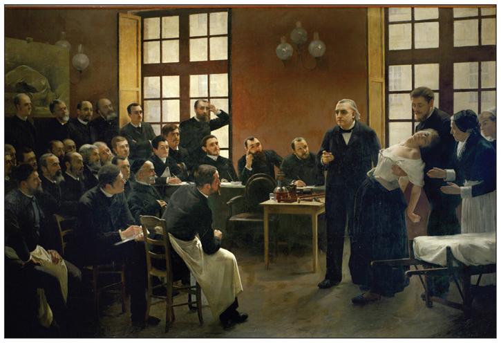 Doctor Charcot förevisar Blanche Wittmans hysteri